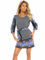 Blue Ikat Tunic Dress