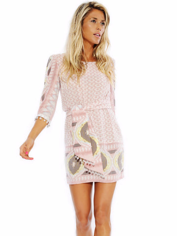 Pink Ikat Tunic Dress
