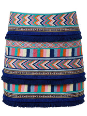 DENIM RAINBOW SKIRT