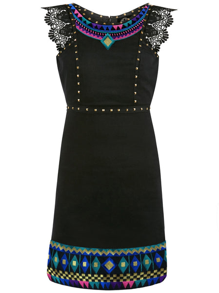 Folklore Gold Studded Dress