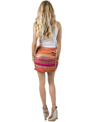HOT TANGERINE EMBELLISHED SKIRT