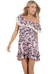 PINK FLORAL POESY DRESS