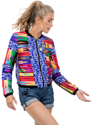 RAINBOW BOMBER JACKET