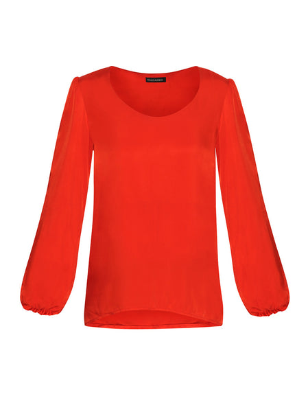 Our Sunset Tunic Top comes in a silky fabric with a heavy feel that gives it the expensive and high-quality look