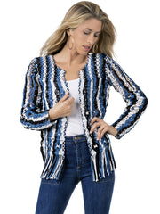 STRIPED MACRAME JACKET