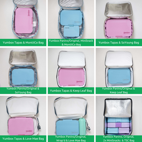 Yumboxes and lunch bags