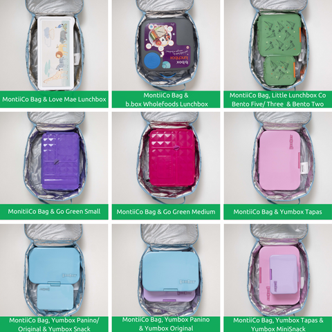 Montii lunch bags and lunchboxes