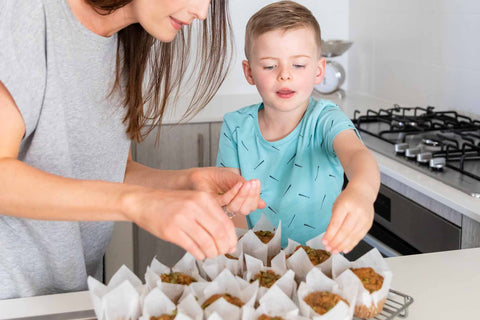 Healthy baking with kids