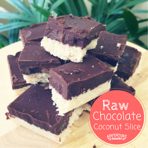 Raw Chocolate Coconut Slice Image