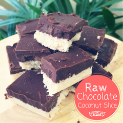 Raw Chocolate Coconut Slice