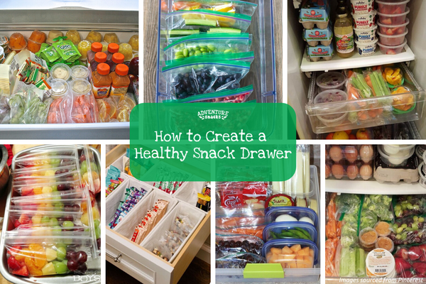 How to create a healthy snack drawer for kids