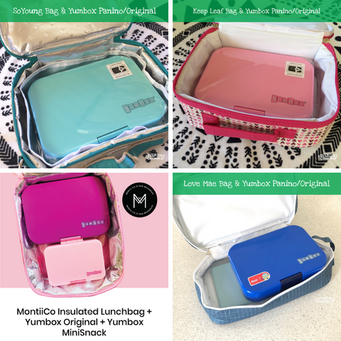 Yumbox Original and Lunch Bags