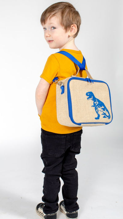 SoYoung Insulated Lunch Bag Blue Dino