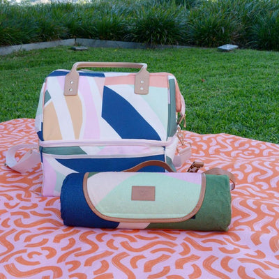 The Somewhere Co Picnic Rug and Cooler Bag