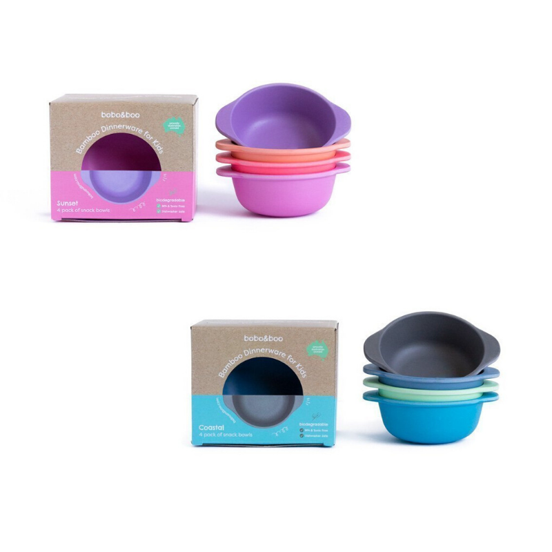 Bobo&Boo Bamboo Snack Bowl Set - 4 Pack
