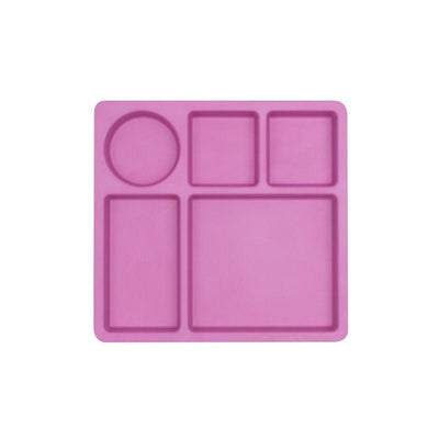 Bobo&Boo Divided Plate - Flamingo Pink