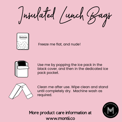 Montii Co Lunch Bag Care Instructions