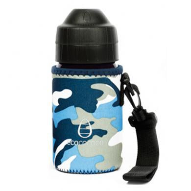 Ecococoon Small Bottle Cuddler Blue Camouflage