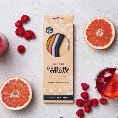 Ever Eco Silicone Straws - Golden Hour