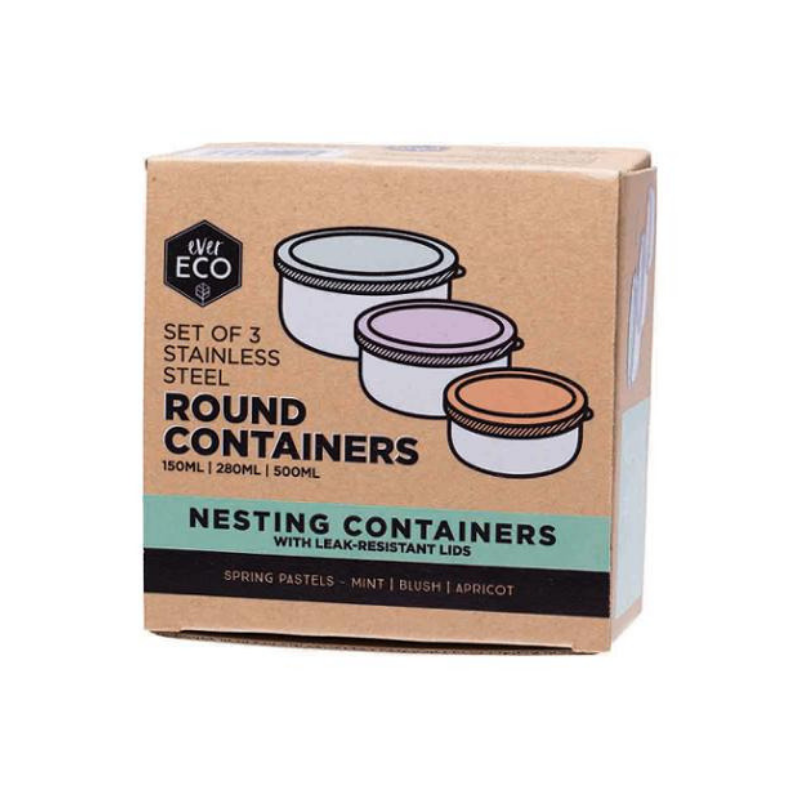 Ever Eco Round Nesting Containers - 3 Piece Set