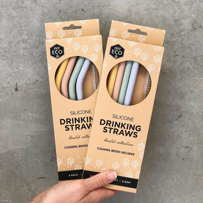 Ever Eco Silicone Straws - Bent