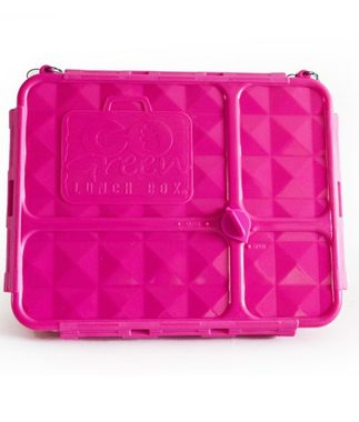 Go Green Medium Lunchbox - Pink