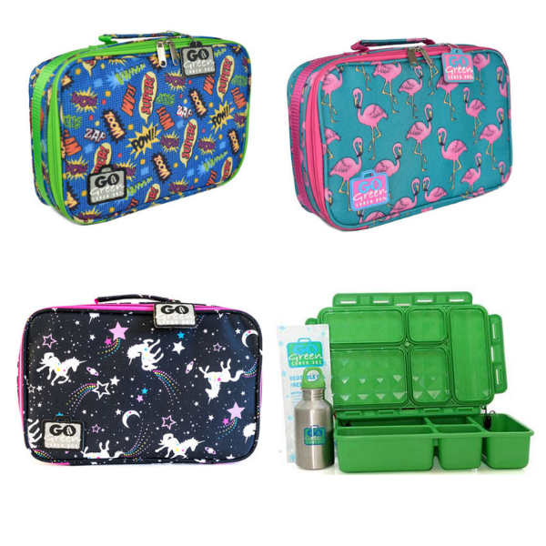 Go Green Lunchbox Set - with Bag and Drink Bottle