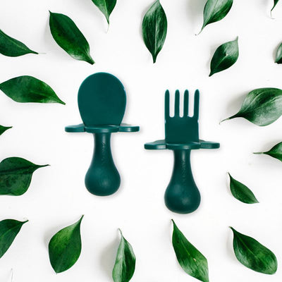 Grabease Toddler Cutlery - Forest Green
