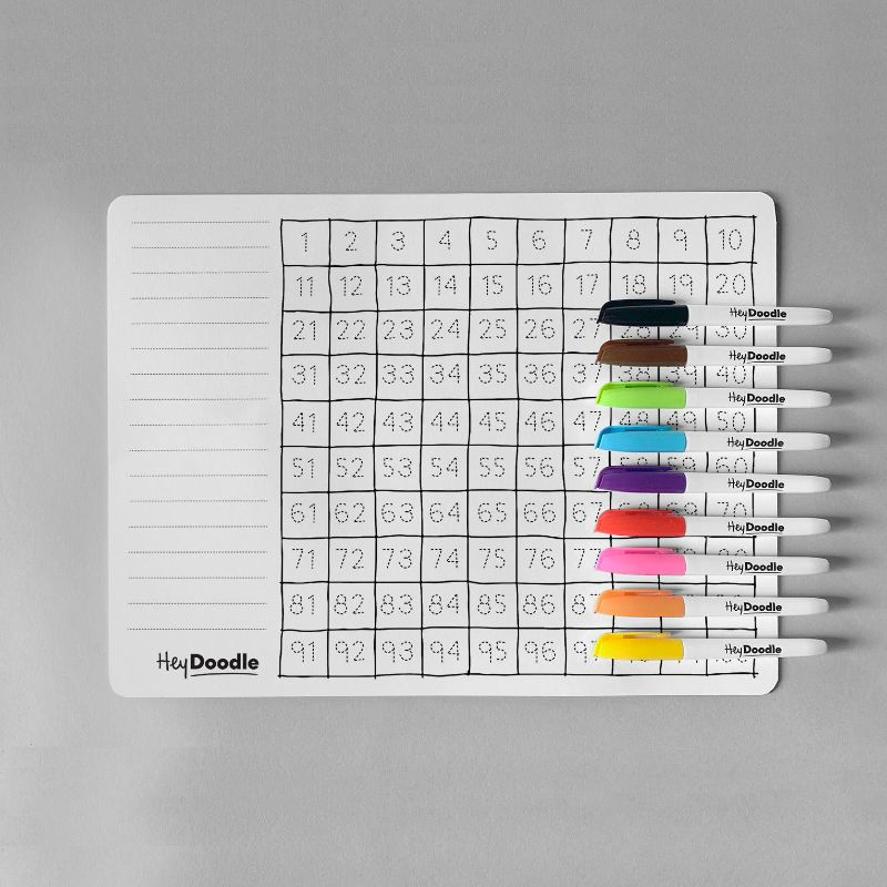 HeyDoodle Reusable Silicone Placemat - 100 Squares
