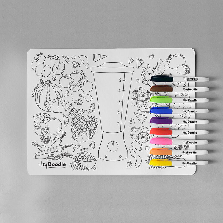 HeyDoodle Reusable Silicone Placemat - Breakfast Blend