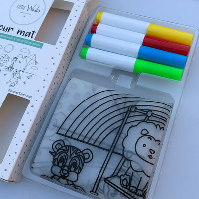 Little Woods Colour Mat Silicone Placemat