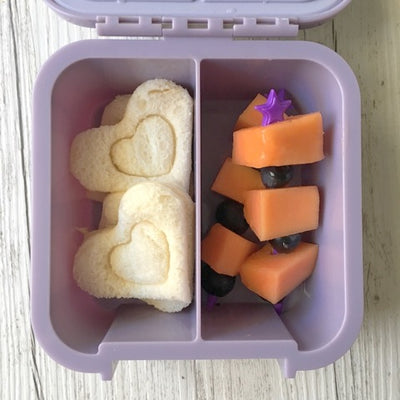 Heart Shaped Sandwiches in Little Lunchbox Co Bento Two