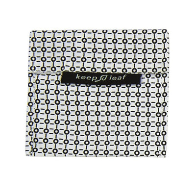 Keep Leaf Reusable Baggies - Large - Black and White