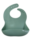 Little Ray Lane Silicone Bib - Sage