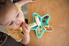 Little Woods Divided Silicone Star Plate -Mint