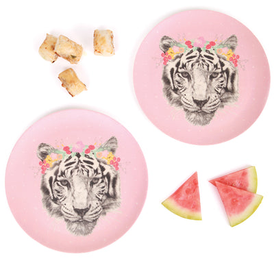 Love Mae 2 Pack Large Plates - Floral Tiger