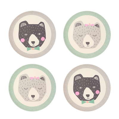Love Mae 4 Pack Plates - Mama & Papa Bear