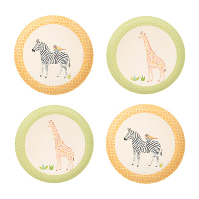 Love Mae 4 Pack Plates - On Safari