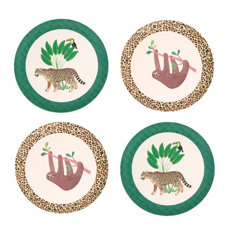 Love Mae 4 Pack Bamboo Plates