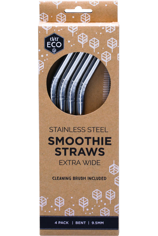 Ever Eco Smoothie Straws - Bent (4 Pack)
