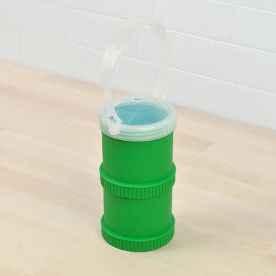 RePlay Recycled Snack Stack - Kelly Green with Travel Lid