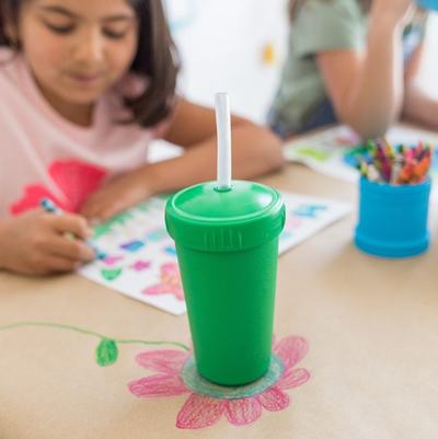 Replay Reusable Silicone Straw and Straw Cup