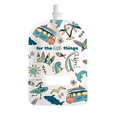 Sinchies Reusable Food Pouches - Surfing