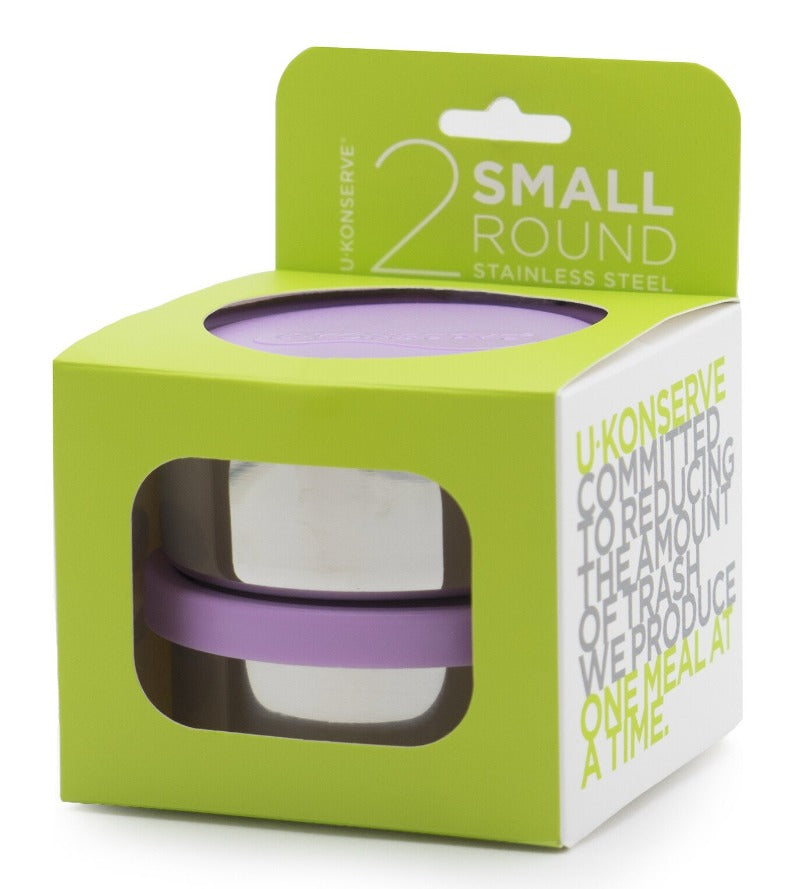 U Konserve Small Round Containers - Lavender
