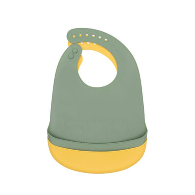 We Might Be Tiny Catchie Bibs -  Sage & Yellow