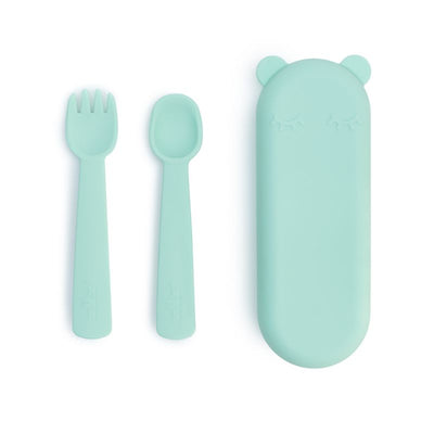 We Might Be Tiny Feedie Fork & Spoon Set - Mint