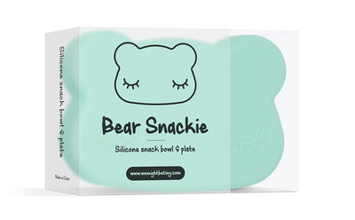 We Might Be Tiny Bear Snackie - Minty Green