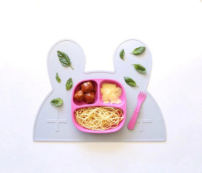 We Might Be Tiny Bunny Placemat - Grey