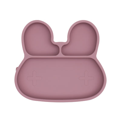 We Might Be Tiny Bunny Stickie Plate - Dusty Rose