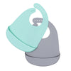 We Might Be Tiny Catchie Bibs - Mint & Grey